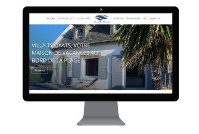 villa ty oyats réalisation site web par agence mauve